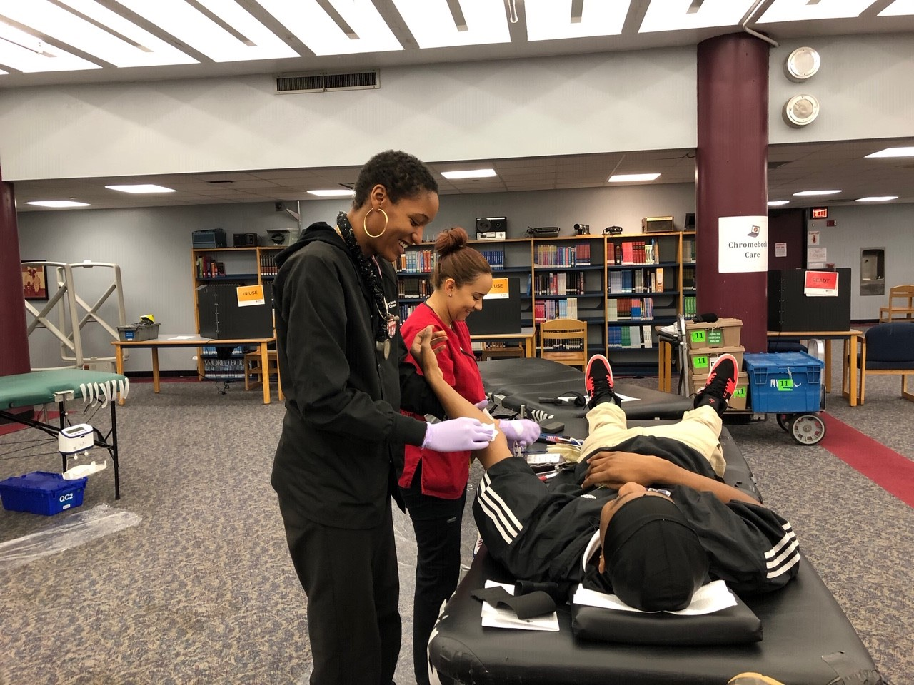 Student at Blood Drive