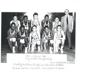 Dick Reilly and 1954 Weaver Basketball Team
